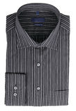 Black pinstriped dress shirt Stock Photos