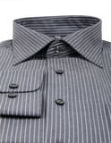 Black pinstriped dress shirt Stock Image