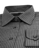 Black pinstriped dress shirt Royalty Free Stock Photography