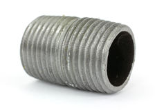 Black pipe fitting Stock Photo