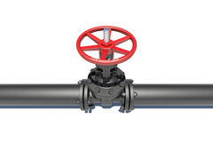 Black pipe with valve Stock Photography