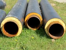 Black pipes Stock Image