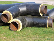 Black pipes Stock Photography