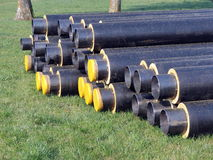 Black pipes Royalty Free Stock Photos
