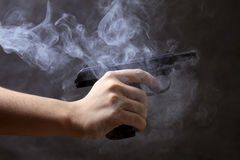 Black pistol Stock Photo