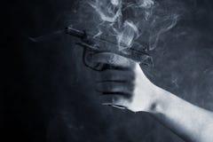 Black pistol stock images