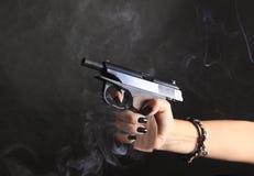 Black pistol Royalty Free Stock Images