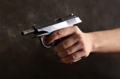 Black pistol Stock Photos