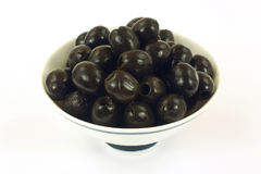 Black pitted olives Stock Photography
