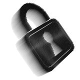 Black pixel icon-like image of padlock Stock Images