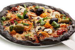 Black Pizza Royalty Free Stock Image