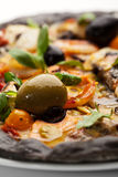 Black Pizza Royalty Free Stock Photography