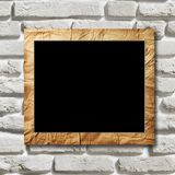 Black placard with the crushed paper in a decorative scope Royalty Free Stock Photo