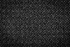 Black plain fabric, textile Stock Image