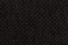 Black plain fabric, textile Royalty Free Stock Photos