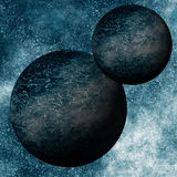 Binary Black Planets System Royalty Free Stock Photos