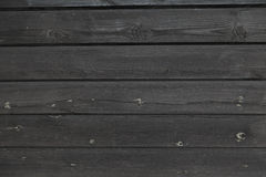 Black plank wall Royalty Free Stock Photography