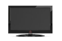 Black plasma tv Stock Photos