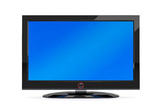 Black plasma tv Stock Photography