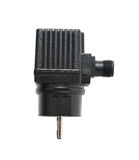 Black plastic adapter isolated Stock Photos