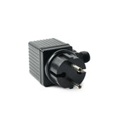 Black plastic adapter isolated Royalty Free Stock Photo