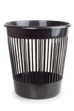 Black plastic basket Stock Photo