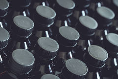 Black plastic bottle and cap Stock Photography