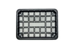 Black plastic box Stock Image