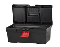 Black plastic box for tools Stock Photo