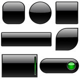 Black plastic buttons royalty free stock image