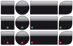 Black plastic buttons Royalty Free Stock Images