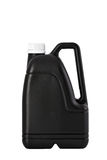 Black plastic canister Stock Image