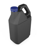 Black plastic canister  on white background. 3d rendering.  Royalty Free Stock Photo
