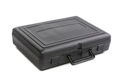 Black plastic case. Royalty Free Stock Photos