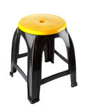 Black plastic chair Royalty Free Stock Images