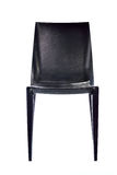 Black plastic chair isolated on white background Royalty Free Stock Photo
