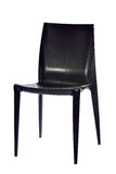 Black plastic chair isolated on white background Stock Photo