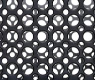 Black plastic circles Stock Photo