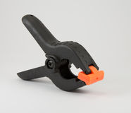 Black plastic clamp Royalty Free Stock Image