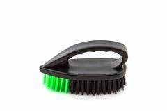 Black plastic cleaning brush . Stock Photos