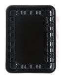 Black plastic container Royalty Free Stock Image