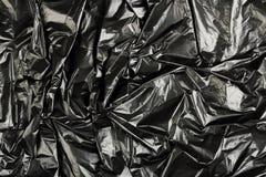 Black plastic stock photo