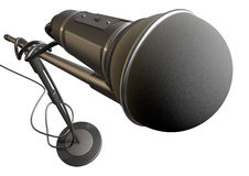 Microphone And Stand Royalty Free Stock Image