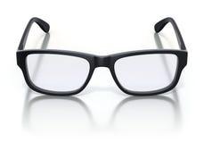 Black plastic frame eye glasses Royalty Free Stock Photography