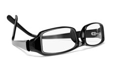 Black plastic frame spectacles Stock Photography