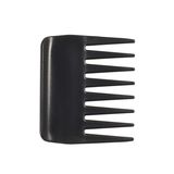Black plastic hair comb Royalty Free Stock Images