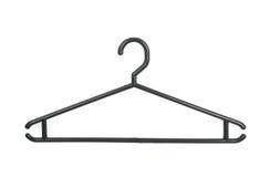 Black plastic hanger isolated. Over the white background Stock Image