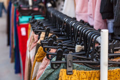 Black plastic hangers Royalty Free Stock Photography