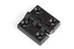 Black plastic hinge Stock Photography
