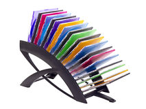 Black plastic holder with dvd Stock Image